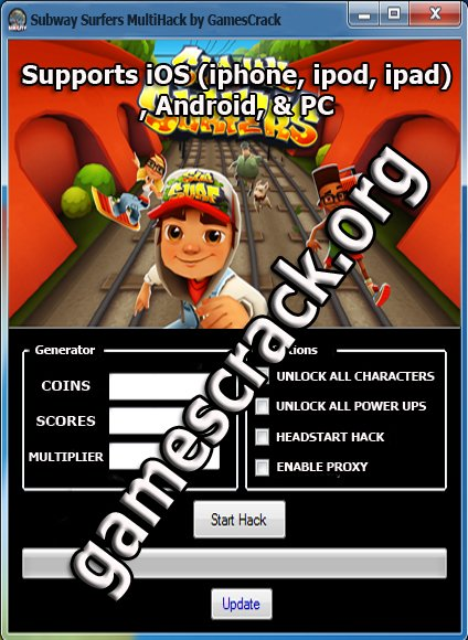 Subway Surfers Hack Cheats Tool Features: