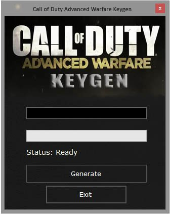 Call of Duty Advanced Warfare Key Generator